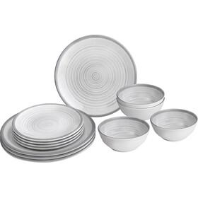 Brunner Midday Set de platos, blanco/gris